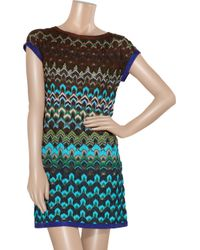 Missoni | Blue Short Dress | Lyst