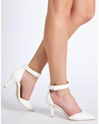 ASOS | White Asos Sonic Pointed Heels | Lyst
