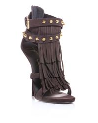 Giuseppe Zanotti | Brown African Suede Sandals | Lyst