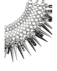 TOPSHOP - Metallic Spike Chain Necklace By Cjg - Lyst