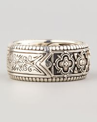 Konstantino | Metallic Carved Sterling Silver Band Ring for Men | Lyst