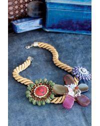 Anthropologie | Pink Floret Rope Necklace | Lyst