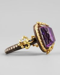 Armenta | Purple 18k Gold Fleur De Lis Sugilite Ring | Lyst