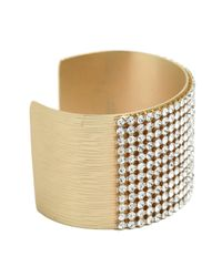 BaubleBar - Metallic Gold Ice Pavé Cuff - Lyst