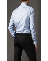 Burberry | Blue Classic Fit Cotton Shirt for Men | Lyst