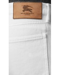 Burberry | Shoreditch White Skinny Fit Jeans for Men | Lyst