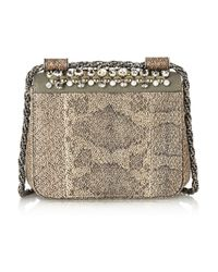 Chloé - Metallic Elsie Mini Embellished Watersnake Shoulder Bag - Lyst