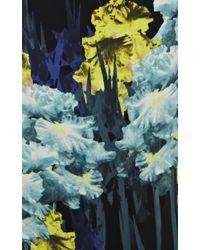 Karen Millen | Floral Placed Iris Print Dress | Lyst