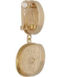 Kenneth Jay Lane - Green 18 Karat Gold-Plated Clip Earrings - Lyst