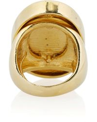 Kenneth Jay Lane - Blue 22karat Goldplated Resin Ring - Lyst