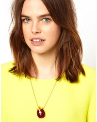 Tatty Devine - Brown Tortoise Necklace - Lyst