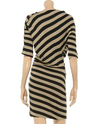 Vivienne Westwood Anglomania - Black Arianna Striped Linenblend Dress - Lyst