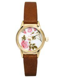 River Island - Brown Floral Helen Watch - Lyst