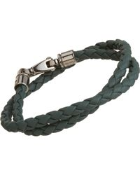 Tod's | Green Large Leather Bracelet for Men | Lyst