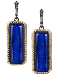 Armenta | Metallic Midnight Emerald Lapis Earrings | Lyst