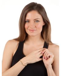 BaubleBar - Metallic Silver Bow Bead Bracelet - Lyst