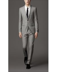Burberry | Beige Modern Fit Virgin Wool Windowpane Check Suit for Men | Lyst