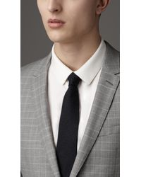 Burberry | Natural Modern Fit Virgin Wool Windowpane Check Suit for Men | Lyst
