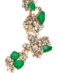 Erickson Beamon | Green White Wedding Goldplated Swarovski Crystal Necklace | Lyst