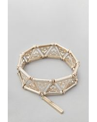 French Connection | White Snake Chain Fringe Bracelet | Lyst