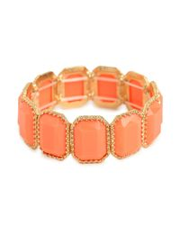 BaubleBar - Orange Coral Bezel Bead Cuff - Lyst