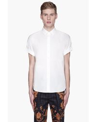 3.1 Phillip Lim | White Dolman Sleeve Button Up Shirt for Men | Lyst