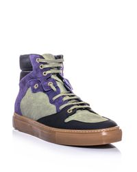 Balenciaga | Multicolor Canvas and Leather Hightop Trainers for Men | Lyst