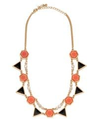 BaubleBar | Black Jet Geo Necklace | Lyst