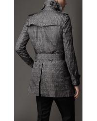 Burberry | Gray Brushed Melange Wool Car Coat for Men | Lyst