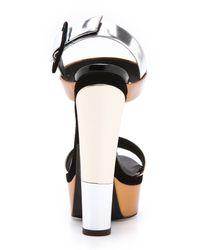 Giuseppe Zanotti - Metallic Platform Sandals - Lyst