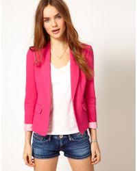 Hilfiger Denim | Pink Bright Blazer | Lyst