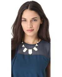 House of Harlow 1960 | Metallic White Sand Five Station Necklace | Lyst