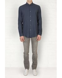 Maison Margiela | Blue Regular Cotton Shirt for Men | Lyst