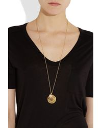 Monica Vinader | Metallic Marie Siren 18karat Goldvermeil Moonstone Necklace | Lyst