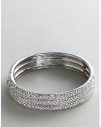 Nadri   Triplerow Crystal Bangle Bracelet   Lyst