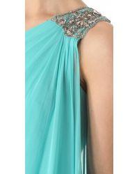Notte by Marchesa - Blue Cascade One Shoulder Dress - Lyst