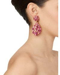 Oscar de la Renta | Purple Teardrop Multi Stone Earrings | Lyst