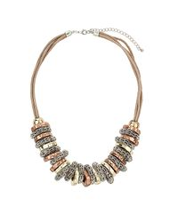 TOPSHOP | Multicolor Bolt Thread Necklace | Lyst