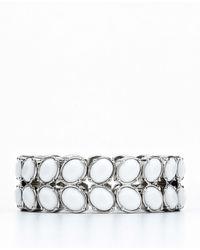 Ann Taylor - White Petal Stretch Bracelet - Lyst