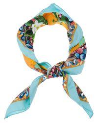Dolce & Gabbana - Blue Sicily Printed Scarf - Lyst