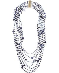 Rosantica | Blue Pegaso Agate and Sodalite Necklace | Lyst
