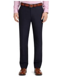 Brooks Brothers | Black Fitzgerald Fit Plain-front Cotton Dress Chinos for Men | Lyst