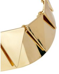 ASOS - Metallic Bunting Torque Necklace - Lyst