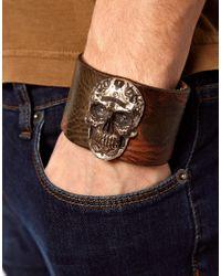 DIESEL - Brown Arfro Camo Bracelet for Men - Lyst