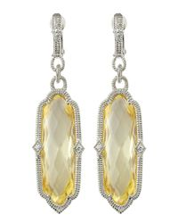 Judith Ripka | Metallic Chelsea Canary Crystal Earrings | Lyst