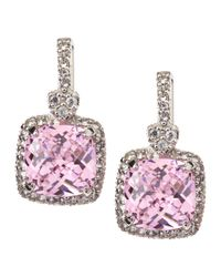 Judith Ripka | Purple Pink Crystal Drop Earrings | Lyst