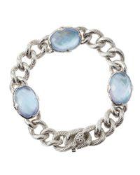 Judith Ripka - Metallic Quartzmother Of Pearl Chain Bracelet - Lyst