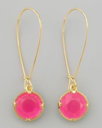 Kate Spade | Pink Long Crystal Drop Earrings | Lyst