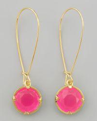 Kate Spade - Pink Long Crystal Drop Earrings - Lyst