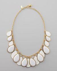 Kate Spade | White Teardrop Necklace | Lyst